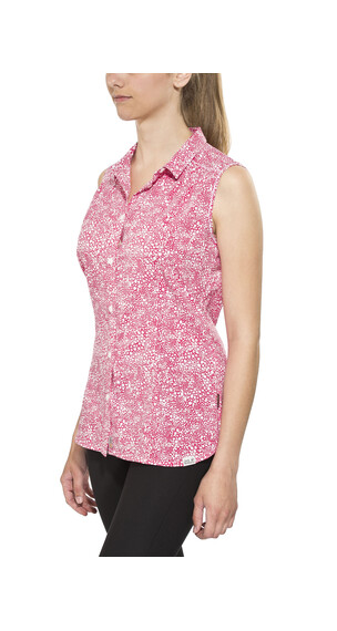 Jack Wolfskin Wahia Print Sleeveless Shirt Women pink raspberry all over
